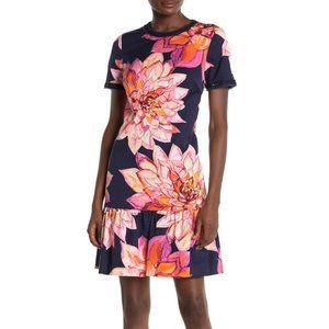 Trina Turk Coast Floral Ruffle Hem Dress